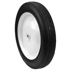 "6-12484 - 10"" x 1.75"" steel wheel with 1/2"" ID (Rib tread)"