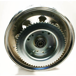 "AZ10154 - 10"" Steel Wheel w/Riveted #35 Sprockets & Drums-60 Tooth, 5/8"" Bearing"