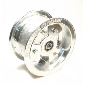 "AZ1197 - 6"" Aluminum Wheel, 3-1/2"" wide, 5/8"" ID Bearing"