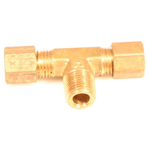 "AZ8312 - Brass Male Run Tee 3/16"" Tube to 1/8"" N.P.T."