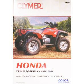 CM205 - 99-04 Honda TRX450 Foreman Repair & Maintenance manual.