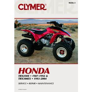 CM456 - 87-06 Honda TRX250X,93-04 TRX300EX  Repair & Maintenance manual.