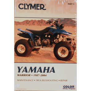 CM487 - 87-04 Yamaha YFM350X Warrior Repair & Maintenance manual.