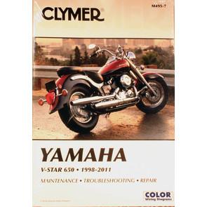 CM495 - 98-07 Yamaha V-Star 650, XVS650 Custom, XVS650A Classic Repair & Maintenance manual