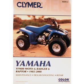 CM499 - 92-01 Yamaha YFM80 Badger. 85-88 Moto 4. 2002-2008 Yamaha YFM80 Raptor Repair & Maintenance manual.