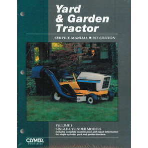 Yard & Garden Tractor Service Manual - Single Cylinder Models (Volume 1)