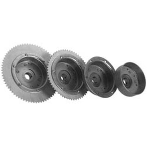 "AZ2268-OD - 4-1/2"" Drums with Riveted Hubs 72 Tooth Sprocket - Machined OD"