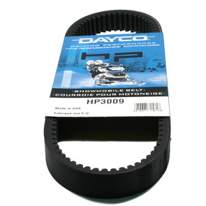 HP3009 - Kawasaki/Sno-Jet Dayco HP (High Performance) Belt. Fits many 72-77 Kawasaki & Sno-Jet Snowmobiles.