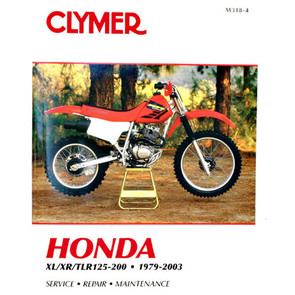 CM318 - 79-03 Honda XL125-200, XR125-200, TLR125-200 Repair & Maintenance manual