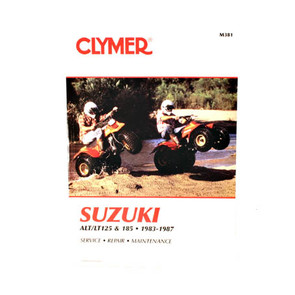 CM381 - 83-87 Suzuki ALT/LT 125 & 185 Repair & Maintenance manual.