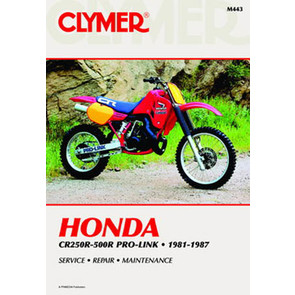 CM443 - 81-87 Honda CR250R-500R Pro-Link Repair & Maintenance manual