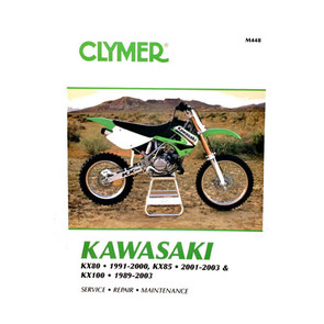 CM448 - 89-03 Kawasaki KX80, KX85, & KX100 Repair & Maintenance manual