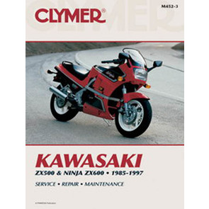 CM452 - 85-97 Kawasaki ZX500 & Ninja ZX600 Repair & Maintenance manual