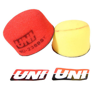 NU-2369ST - Uni-Filter Two-Stage Air Filter. For 91-07 Kawasaki KX 80/85/100