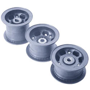 "AZ1064 - 5"" Azusalite Wheel, 3-1/2"" wide, 1"" to 3/4"" Step Live Axle"
