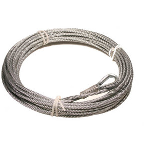 "RUCABLE3500 - 7/32"" x 42' steel cable for 3500 lbs winch"