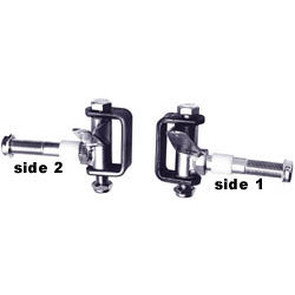 "AZ2200 - 3-3/4"" long Spindle & Bracket Set - Side 1, 3/4"" axle"